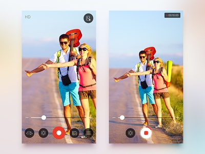 SnipBack App UI/UX Redesign ios app ui redesign ux ui snipback photo capture camera rec video recording