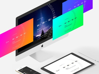 ERA - Coming soon template vibrant under construction timer soon launch innovative gradient flat colorful countdown coming soon animated