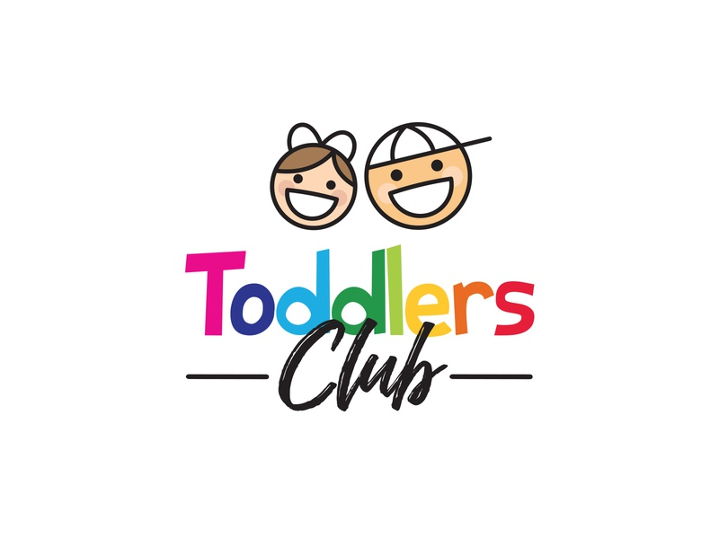 Toddlers Club Logo Design creative era kids logo logo design innovative vector creative modern clean girl boy playgroup colorful fun happy kids toddlers kids club branding logo