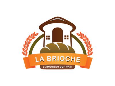 bakery house type flat icon branding logo illustration design