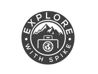 explore (camera) vector type flat icon branding logo illustration design