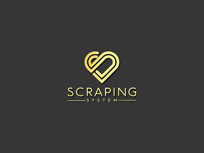 ss=love type flat icon branding logo illustration design