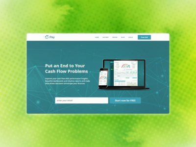 Payment service landing page