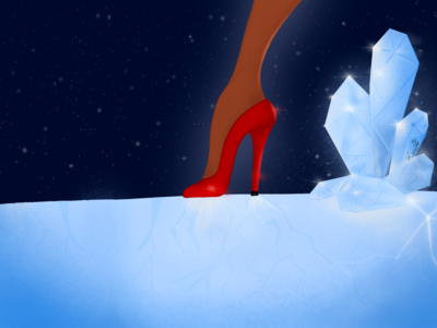 High heel high heels high heel cristal ice illustration drawing digital illustration digital painting procreate