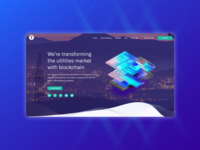 Crypto project landing page