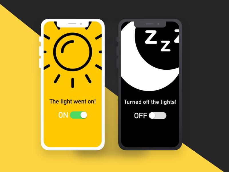 Daily UI 015. On/Off Switch. poppy light remote control on off switch onoff switch switch moon sunny illustration diseño uipractice design dailyui sketch app uidesign ui