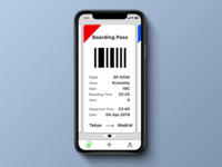 Daily UI 024, Boarding Pass