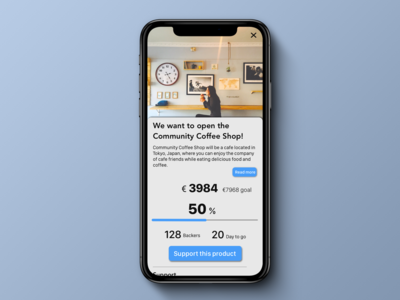 Daily UI 032. Crowdfunding Campaign.
