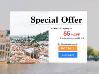 Daily UI 036 Special Offer.