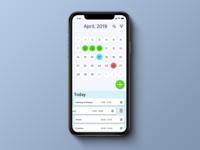 Daily UI 038, Calendar app.