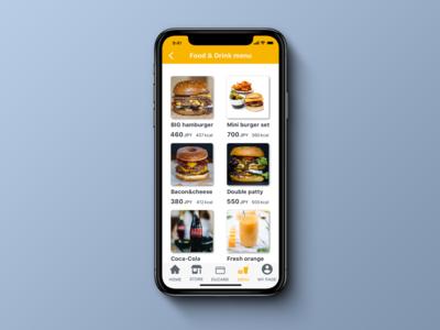 Daily UI 043, Food/Drink menu.