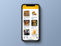 Daily UI 043, Food/Drink menu.