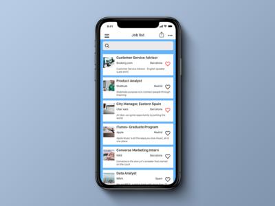 Daily UI 050, Job Listing