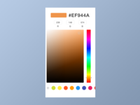 Daily UI 060 Color Picker