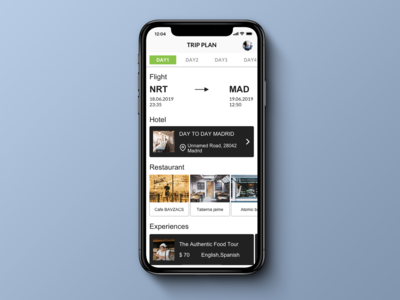 Daily UI 079 Itinerary.