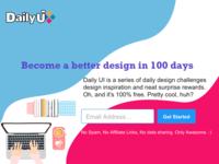 DailyUI 100 - Redesign DailyUI Landing Page.