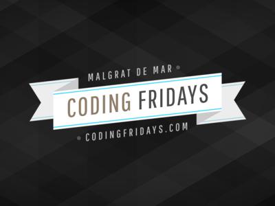 Coding Fridays logo coding fridays ribbon