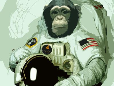 Astronaut astronaut chimp