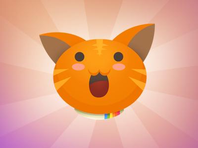 Polaroid Cat cat logo illustration