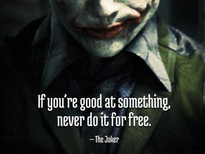 Quoting the Joker quote joker