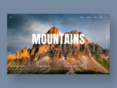 Web design about mountain map