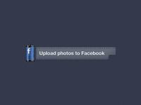 Facebook Photos Upload Button