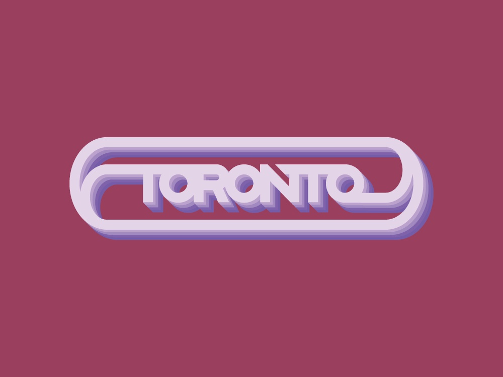 Toronto we the north typography tdot toronto design retro