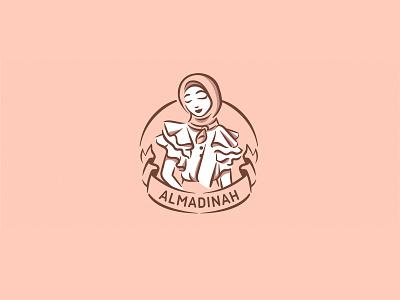 Muslim fashion logo, woman in hijab arabian logo hijab girl fashion muslim musulman