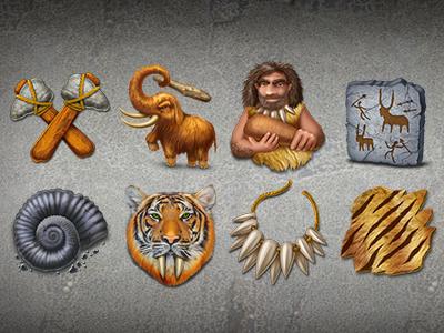 Stone Age icon set