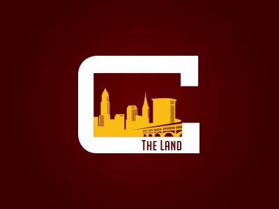 The Land ohio the land c monogram logo skyline cleveland cavs shirt