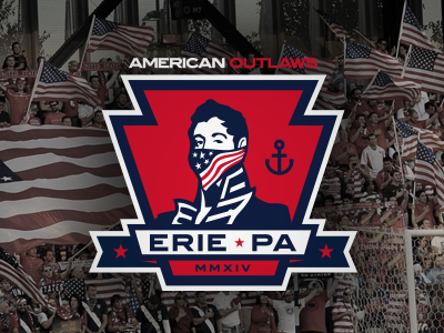 American Outlaws - Erie Chapter usa soccer usmnt erie american outlaws crest