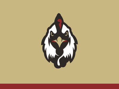Rooster wip branding gms sports logo chicken rooster