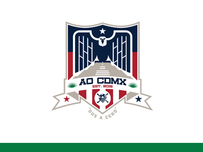 American Outlaws - Mexico City geometric ao american outlaws soccer crest eagle gms sports design branding logo