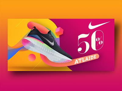 Nike Discount Banner banner ads banner design web banner