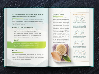 Clean Living - eBook Design ebook cover graphic design layout design ebook layout ebook design