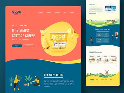 Simply Cottage Cheese cheese cottage cheese dairy product dairy web design layout ui design ui  ux