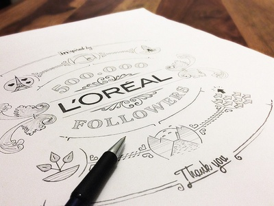 L'Oréal / 500k followers sketch