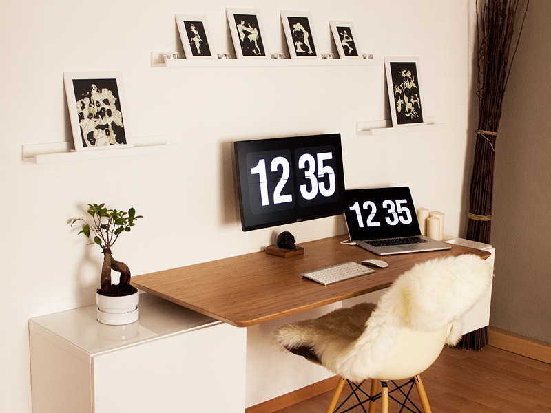 Home Workspace ikea design monitor pro macbook office workspace home