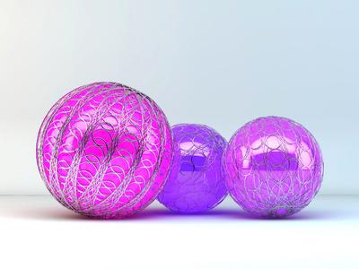 Spheres (C4D included) design graphic 4d cinema spheres