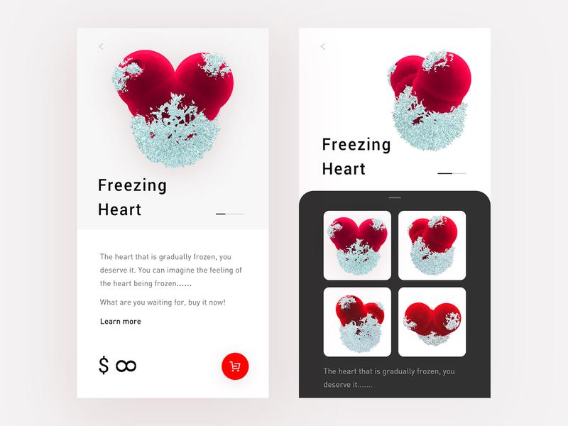 Heart c4d heart red ui design
