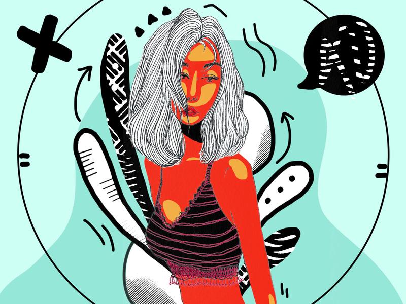 Someone-4 red design 插画 illustration