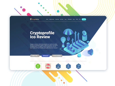 ICO project landing page front end design front end landing page design landing  page web ui design
