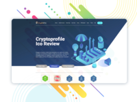 ICO project landing page