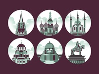 City Monument Icons