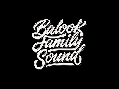 Balook Family Sound handlettering calligraphy logo lettering logo typography lettering