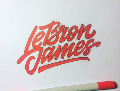 LeBron James sketch