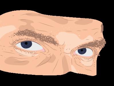 stare man digital drawing illustrator illustration