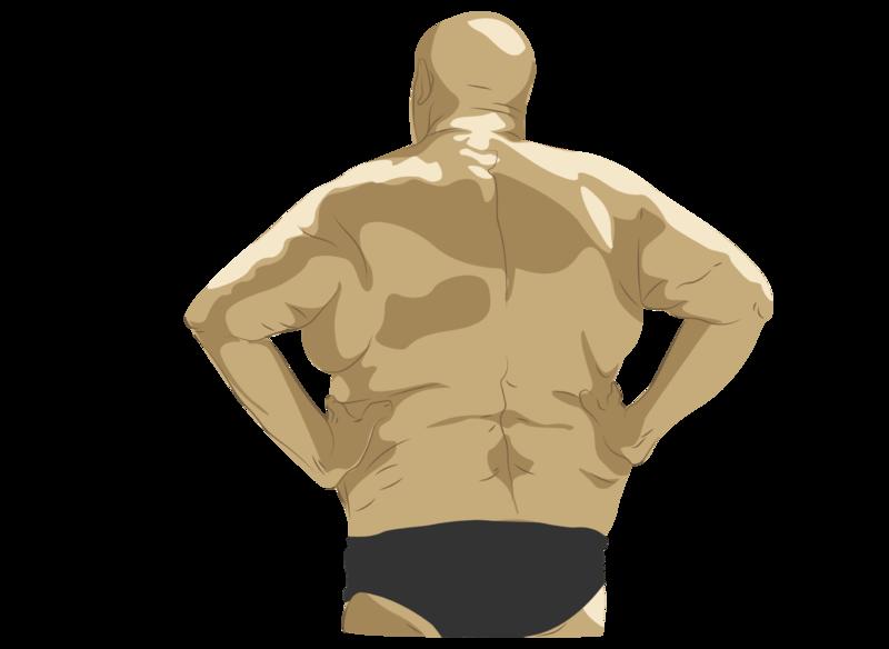 granpa human body digital man back vector illustration illustrator illustration