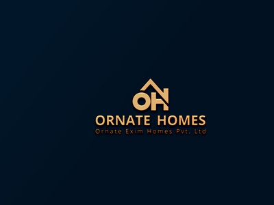 OrnateHomes Pvt ltd vector graphic design minimal custom logo typography branding business logo professional logo property logo real estate logo home logo