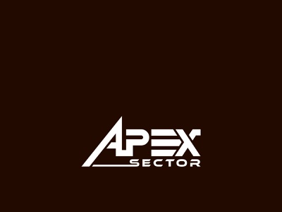 Apex Sector brand logo illustration vector corporate minimal logo business logo custom logo typography professional logo brand logo design brand logo